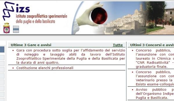 Incarichi all'Istituto zooprofilattico di Puglia e Basilicata