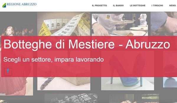 Abruzzo: con le Botteghe 90 opportunità per i giovani