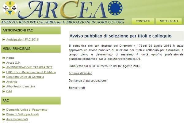 Calabria: concorso per Agenzia Regionale