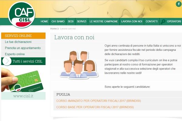 Operatori stagionali nei CAF in Puglia